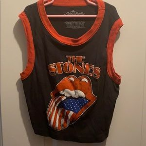 The Rolling Stones crop tank top